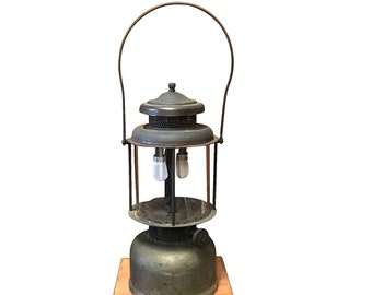1910s Coleman Lantern in Wood Case, Early Model, Vintage Camping