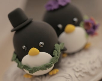 Penguins wedding cake topper (K412)