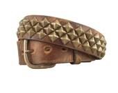 Brown Diamond Studded Belt