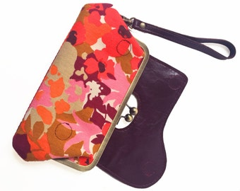Vegan Bag, Wristlet Wallet, Clutch Purse, Phone Clutch, Kisslock Wallet, Vegan Leather Wallet, Wristlet Purse, Clutch Wallet, Kisslock bag