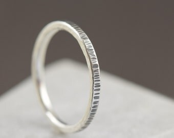 stacking ring sterling silver ring unisex band silver band hammered ring mens ring gifts for her