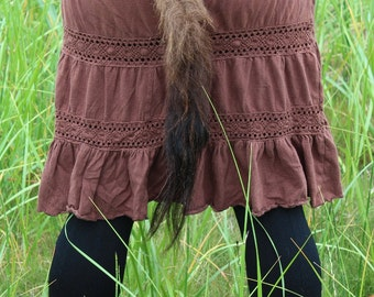 Bison tail - real American buffalo fur totem tail on recycled braided leather belt loop for shamanic dance, ritual and more