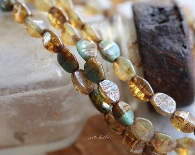 sale .. CASHMERE MIX .. 30 Premium Czech Glass Pinch Beads 3x5mm (4987-30)