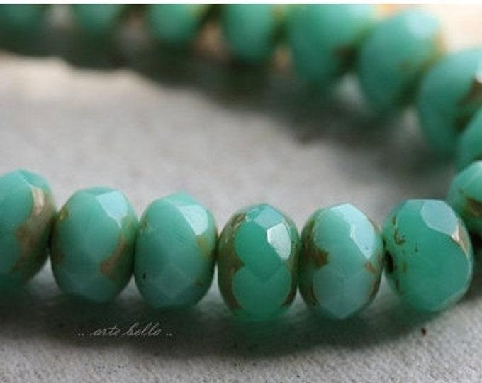 sale .. MIX No. 5031 .. 25 Premium Picasso Mix Czech Rondelle Beads 6x8-9mm (5031-st)