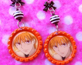 Fruits Basket Kyo Kitty Cat Magical Girl Anime Earrings