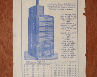 """The """"Portway"""" Portable Fuel Oven - vintage salvaged page (sale)"""
