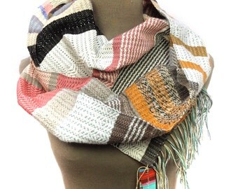 Jordan | Luxurious Pink Striped Woven Scarf | Womens Modern Fashion | Luxe Pastel Heirloom Gift | Handwoven Pink Pantone Accessory