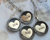 Personalized Graduation gift, 2016 graduate, name necklace, Heart locket Personalized jewelry, Personalized name necklace
