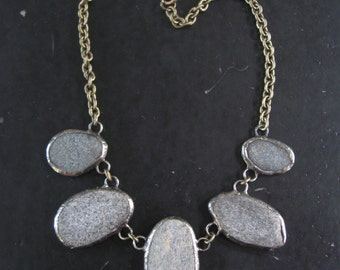 Stepping Stones - New England Beach Stones Statement Necklace