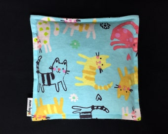Flannel Corn Heating Pad, Corn Bag, Microwave Heating Pad, Heated Bag, Children's Corn Bag, Relaxation Gift, Get Well Gift, Ice Pack, Cats