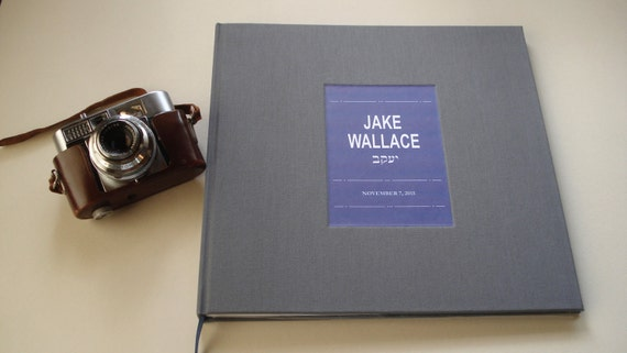 "Bar - Bat Mitzvah Photo Booth Guest Book / Custom Scrapbook. Personalized Scrapbook / Photo Album. You Design the Cover. 10 x 10"""