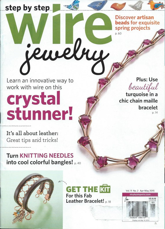 step by step wire jewelry magazine april may 2015 issue