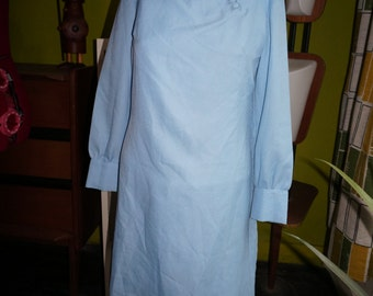 vintage baby blue dress 60s 70s 1960 1970 mod twiggy