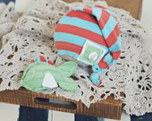 newborn hat and stuffie set // stocking hat // fish stuffie // newborn photography // shabby chic // fishing // summer prop // boat prop