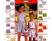 593 McCalls 2206 Childs Tops & Shorts with Variations, Girls sizes 10 12 14, 8 Great Looks Sewing Pattern Uncut