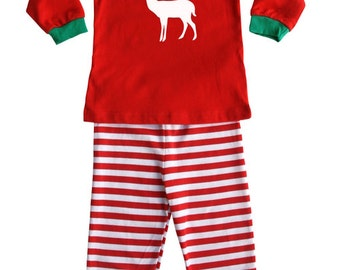 Holiday Deer Silhouette Baby and Toddler Pajama Set