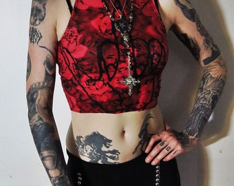 Hell Couture Sign Of Kish Gypsy Rose Crop Top