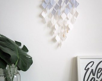 Icy Blue Drops, wall hanging, hanging mobile, home decor