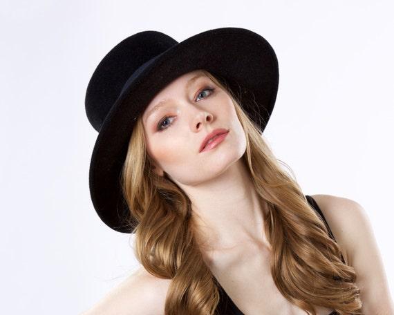 Gaucho Hat Spanish Hat Fall Fashion Winter Accessories Boater Hat Black Hat Wide Brim Porkpie Hat Fall Accessories Fall Felt Hat Bolero Hat