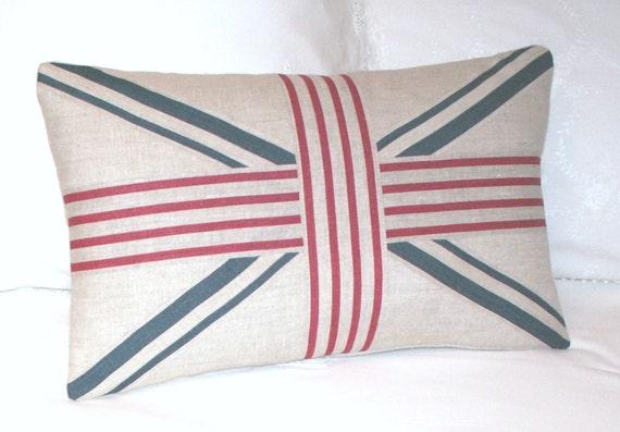 kohl und rosen jolly stripe union jack kissen dekorative. Black Bedroom Furniture Sets. Home Design Ideas