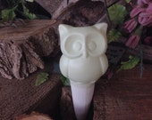 Owl Water Spike  Water System  Mint Green Pastel  Ceramic  Glazed Vintage styled Hooter