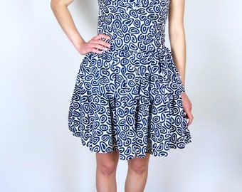 Patterned Tiered Party Dress