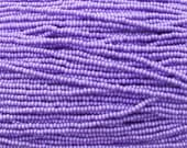 8/0 Opaque Lilac Pearl Terra Colorfast Czech Glass Seed Bead Strand (CW93)