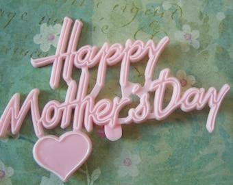 SPRING SALE - Vintage Pink Mother's Day Cake Topper or Decoration