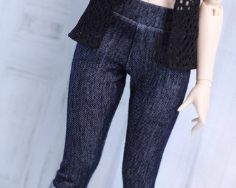 Cuffed Jeans leggings for Feeple60 BJD, 1/3 Clothes, Pants Jeggings F60 Moe