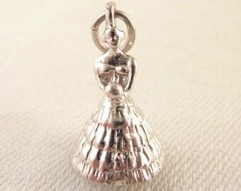 Vintage Sterling Figural Bride Charm