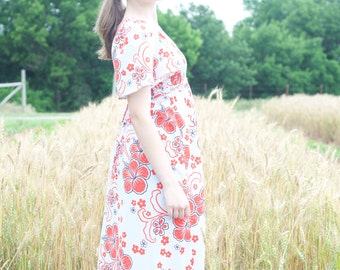 70s vintage maxi dress // YOUNG HAWAII / Mark Christopher // flower child style