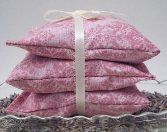 Lavender Sachets - Pink Damask