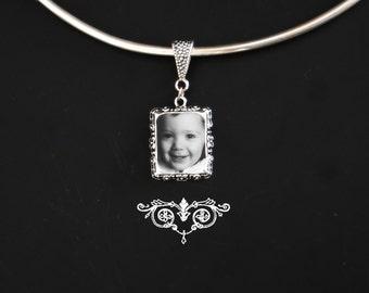 Vintage style Custom photo portrait pendant
