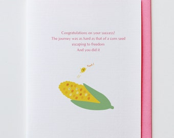 Corn Seed - Congratulations, Greeting Card, Funny, Unique