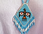 Native American Diamond Thunderbird Necklace