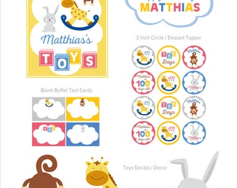 Toys 100th Day Party Decorations, Toy Birthday, Toys Theme, 100th Day Party Decor, Party Kit