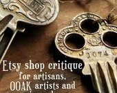 Etsy Shop Critique - personalised etsy shop report for creative sellers and OOAK artisans -  handmade business