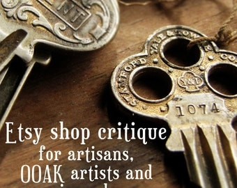 LAST ONE - Etsy Shop Critique - personalised etsy shop report for creative sellers who want an authentic store
