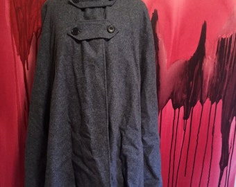 Nurses Cape Vintage 1950s Nursing Cape in Light Blue Wool with Red Lining, USA Made WWII Nurse Cape on SALE