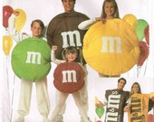 M&M Candy Family Halloween Costume Sewing Pattern Child Misses Men Adult Couple Simplicity 8290 Candy Uncut Factory Folded