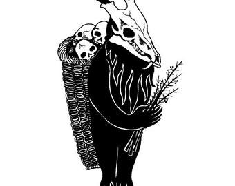 Krampusnacht Art Print