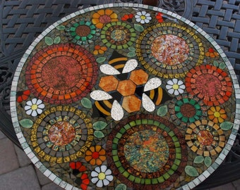Lazy Susan, Mosaic, Dance of the Three Bees in the Garden. Let me make one like this for you!