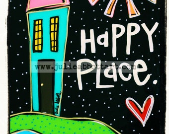 "Happy Place - New!  ""Mini-s"" by Julie Abbott Art"