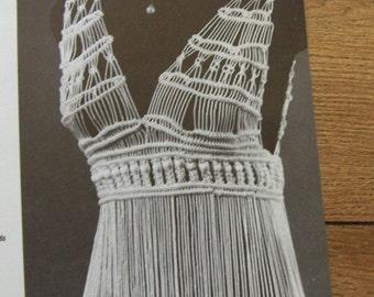 Vintage 70s MACRAME dress belts necklaces wall hangings shoulder bag purses