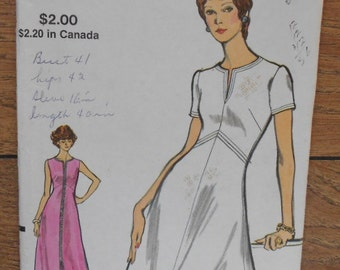 vintage 70s vogue pattern 8296 misses dress sz 14 b36 uncut