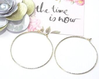 Textured Sterling Silver Hoop Earrings-Fine Jewelry
