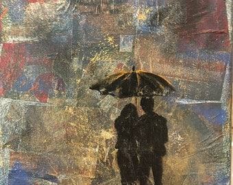 A couple in the Rain