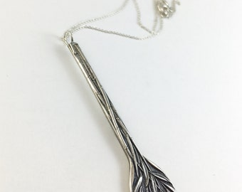Bamboo Necklace, Bamboo Jewelry, Silver Bamboo necklace, Vintage Silver Necklace Ornate Silver Necklace, Statement Necklace, Vintage Jewelry