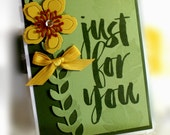 Stampin' Up Just For You Card