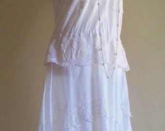 vintage 20s dress, 30s dress, vintage lace dress, antique lace, victorian lace, antique clothing, 20s costume, edwardian costume